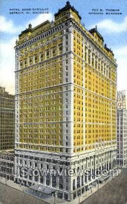 Hotel Book Cadillac - Detroit, Michigan MI Postcard
