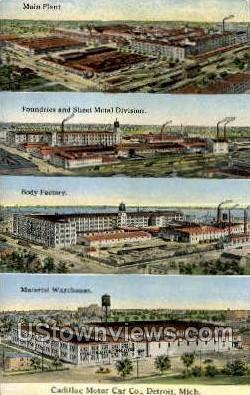 Cadillac Motor Car Co. - Detroit, Michigan MI Postcard
