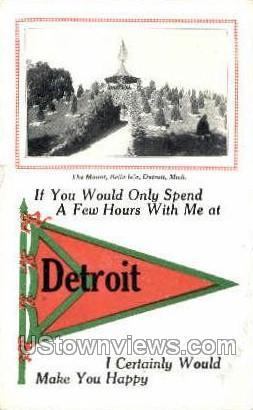The Mount, Belle Isle - Detroit, Michigan MI Postcard
