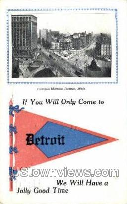Campus Martius - Detroit, Michigan MI Postcard