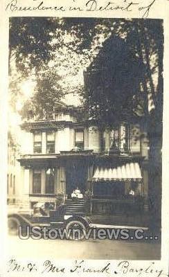 Residence Mr. & Mrs. Frank Bagley - Detroit, Michigan MI Postcard