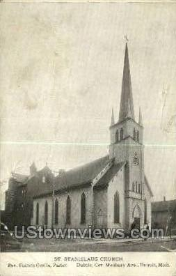 St. Stanslaus Church - Detroit, Michigan MI Postcard