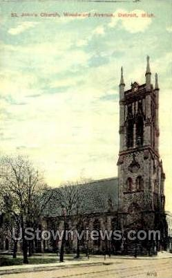 St. John's Church - Detroit, Michigan MI Postcard