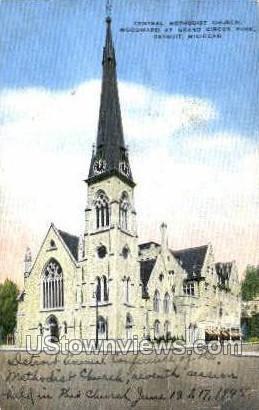 Central Methodist Church - Detroit, Michigan MI Postcard