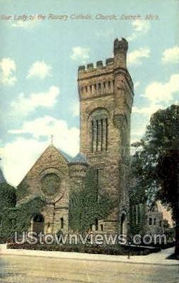 Lady of the Rosary Catholic Church - Detroit, Michigan MI Postcard