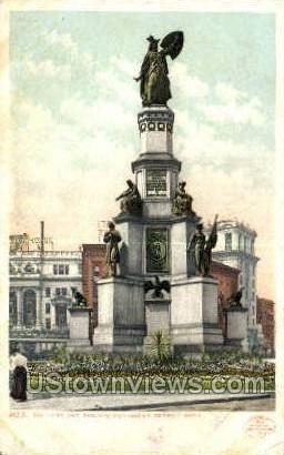 Soldiers' & Sailors Monument - Detroit, Michigan MI Postcard