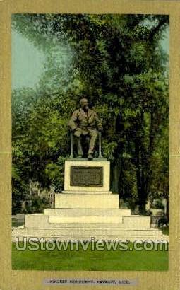 Pingree Monument - Detroit, Michigan MI Postcard