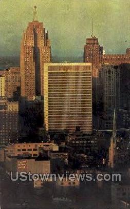Detroit Bank - Michigan MI Postcard