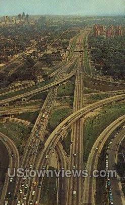 John L. Lodge Expressway - Detroit, Michigan MI Postcard