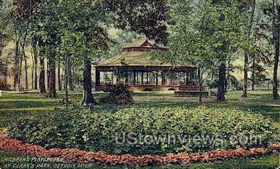 Clark's Park - Detroit, Michigan MI Postcard