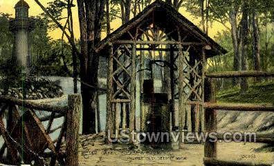 Old Oaken Bucket & Rustic Well - Detroit, Michigan MI Postcard
