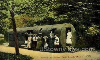 Spruce Log, Palmer Park - Detroit, Michigan MI Postcard