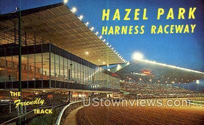 Hazel Park Harness Raceway - Detroit, Michigan MI Postcard
