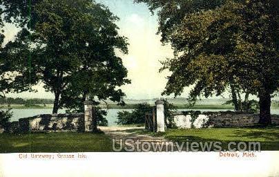Old Gateway, Grosse Isle - Detroit, Michigan MI Postcard
