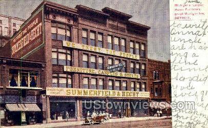 Summerfield & Hecht - Detroit, Michigan MI Postcard