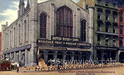 Alfred Rush & Son's Commission - Detroit, Michigan MI Postcard