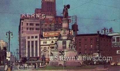 Soldier's Monument, Cadillac Square - Detroit, Michigan MI Postcard