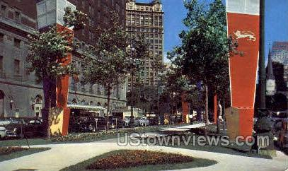 Statler Hotel, Washington Ave. - Detroit, Michigan MI Postcard