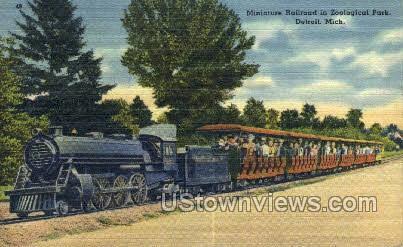 Mini Railroad, Zoological Park - Detroit, Michigan MI Postcard