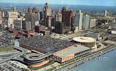 Detroit's Civic Center - Michigan MI Postcard