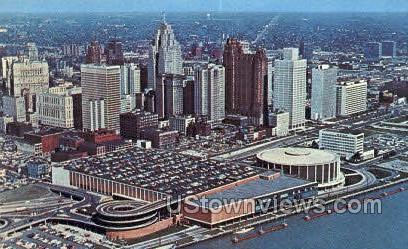 Civic Center - Detroit, Michigan MI Postcard