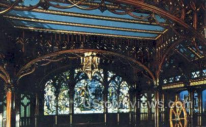 Gothic Room, D & C Steamer City - Detroit, Michigan MI Postcard