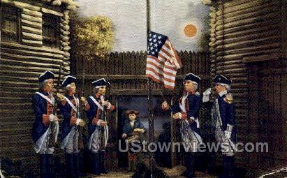 Detroit Under American Flag 1796 - Michigan MI Postcard