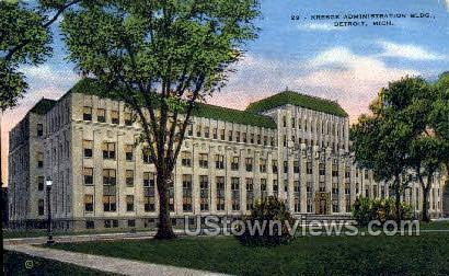 Kresge Admin Bldg - Detroit, Michigan MI Postcard