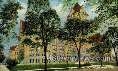 Central High School - Detroit, Michigan MI Postcard