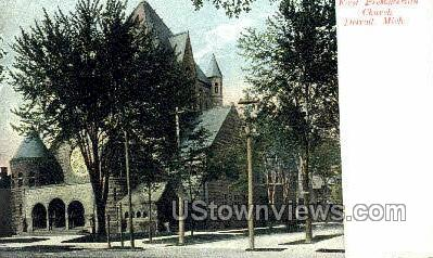 First Presbyterian Church - Detroit, Michigan MI Postcard