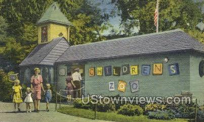 Children's Zoo, Belle Isle - Detroit, Michigan MI Postcard