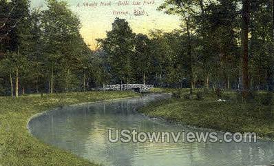 Shady Nook, Belle Isle Park - Detroit, Michigan MI Postcard
