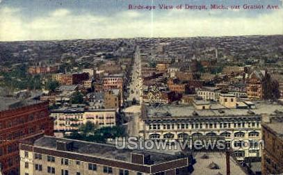 Gratiot Ave. - Detroit, Michigan MI Postcard