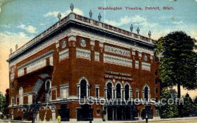 Washington Theatre - Detroit, Michigan MI Postcard