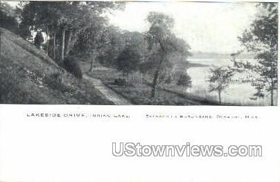 Lakeside Drive, Indian Lake - Dowagiac, Michigan MI Postcard