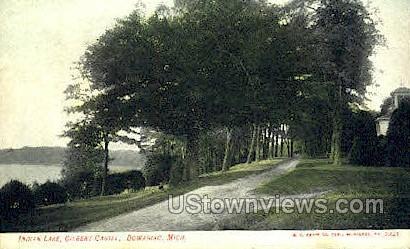 Indian Lake, Gilbert Castle - Dowagiac, Michigan MI Postcard