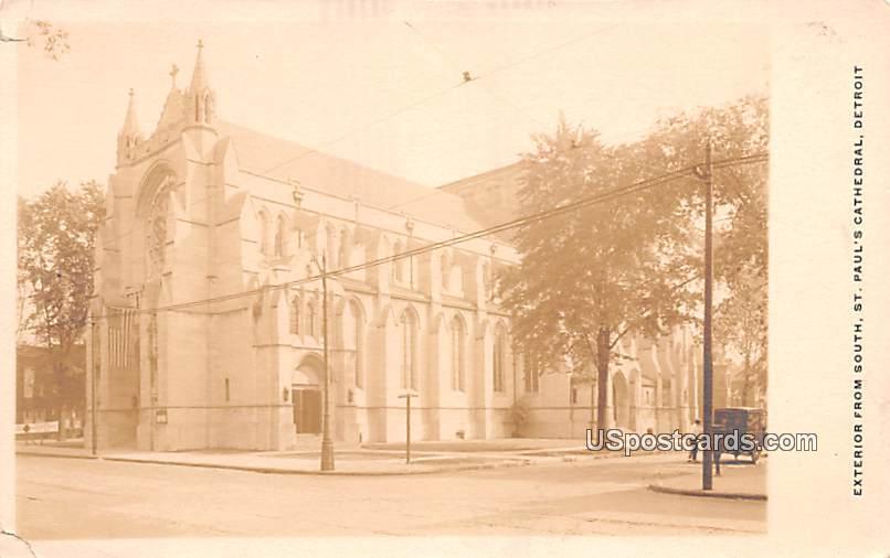 St Paul's Cathedral - Detroit, Michigan MI Postcard