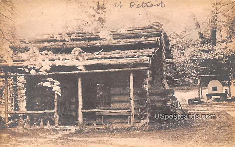 Log Cabin - Detroit, Michigan MI Postcard