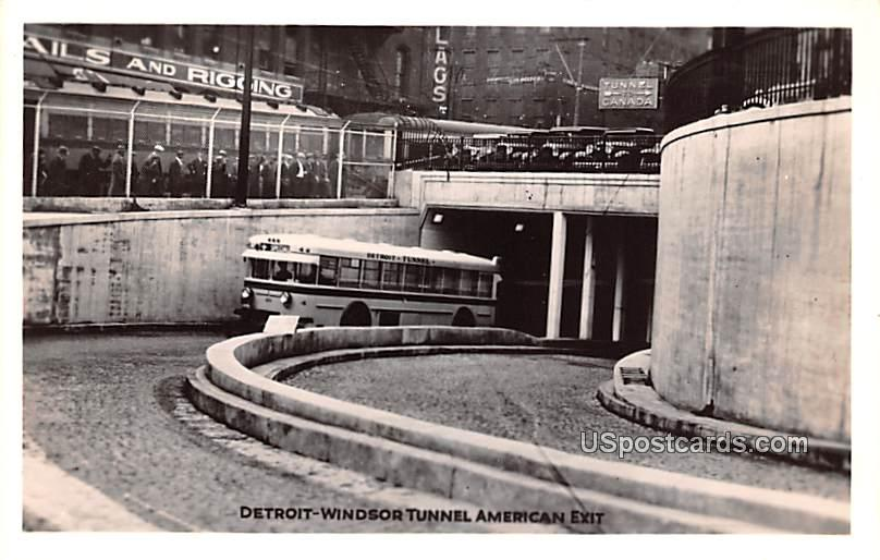 Detroit Windsor Tunnel - Michigan MI Postcard