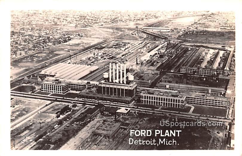 Ford Plant - Detroit, Michigan MI Postcard