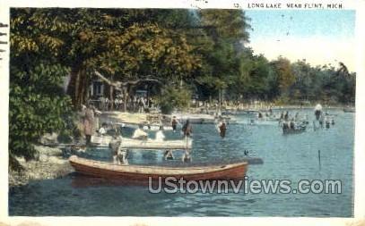 Long Lake - Flint, Michigan MI Postcard