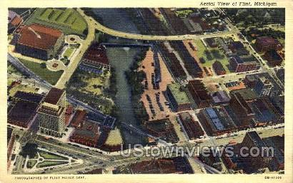 Flint, Michigan, USA Postcard