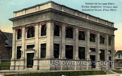 Industrial Savings Bank - Flint, Michigan MI Postcard