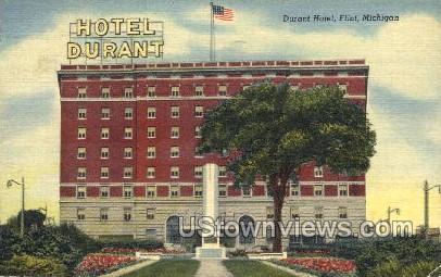 Hotel Durant - Flint, Michigan MI Postcard