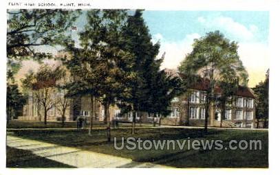 Flint High School - Michigan MI Postcard