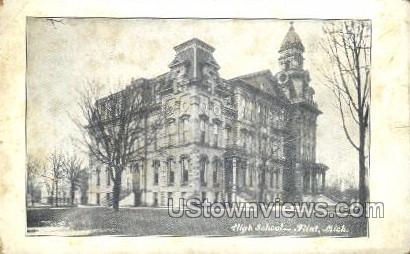 High School - Flint, Michigan MI Postcard