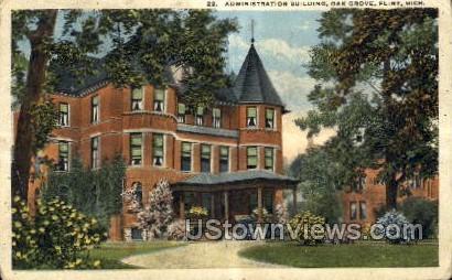 Administration Building, Oak Grove - Flint, Michigan MI Postcard