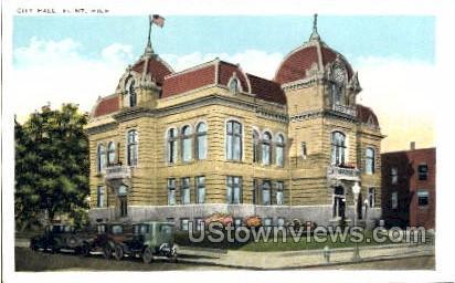 City Hall - Flint, Michigan MI Postcard