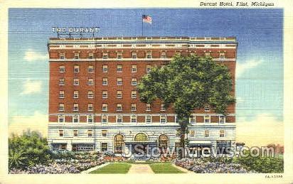 Durant Hotel - Flint, Michigan MI Postcard