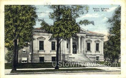 Public Library - Flint, Michigan MI Postcard